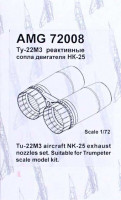 Amigo Models AMG 72008 1/72 NK-25 exhaust nozzles set for Tu-22M3 (TRUMP)