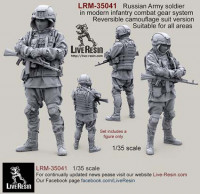 LiveResin LRM35041 Russian Army soldier in modern infantry combat gear system, set 3 1:35