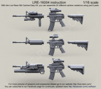 LiveResin LRE16004 1:16 US Army M4 carbine Easy Kit