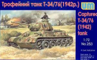 UM  252	Soviet Captured T-34/76 Tank with resin parts 1942