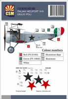 Copper State Models D32-004 Nieuport XVII, Giulio Poli personnal markings 1/32