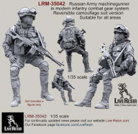 LiveResin LRM35042 Russian Army machinegunner in modern infantry combat gear system, set 4 1:35