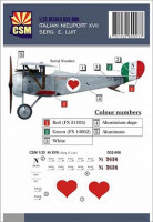 Copper State Models D32-006 Nieuport XVII, Serg. E. Luit personnal markings 1/32