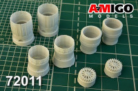 Amigo Models AMG 72011 1/72 RD-33 exhaust nozzle for MiG-29 (ZVEZDA)