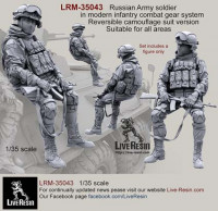 LiveResin LRM35043 Russian Army soldier in modern infantry combat gear system, set 5 1:35