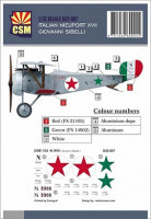 Copper State Models D32-007 Nieuport XVII, Giovanni Sabelli personnal markings 1/32