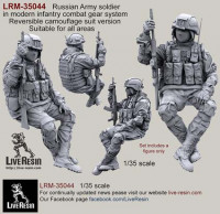 LiveResin LRM35044 Russian Army soldier in modern infantry combat gear system, set 6 1:35