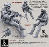 LiveResin LRM35045 Russian Army soldier in modern infantry combat gear system, set 7 1:35