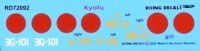 Rising Decals 72092 1/72 Decal KYOFU Japanese Navy Floatplane Fighter