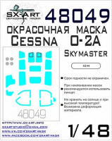 Sx Art 48049 1/48 Cessna O-2A Skymaster Painting mask (ICM)