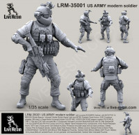 LiveResin LRM35001 1:35 US ARMY modern soldier