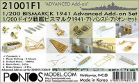 Pontos model 21001F1 Bismarck 1941 Advanced Add-on Set for Basic 1/200