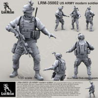 LiveResin LRM35002 1:35 US ARMY modern soldier