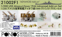 Pontos model 21002F1 USS Misouri/Iowa 1944 Advanced Add-on Set 1/200