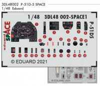Eduard 3DL48002 1/48 P-51D-5 SPACE 3D (ZVE)