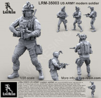 LiveResin LRM35003 1:35 US ARMY modern soldier
