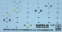 HAD HADJ72011 1/72 Decal Waffen SS Division markings