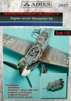 Aires 2017 Bf 109G-6 detail engine set 1:32 (распродажа)