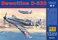 RS Model 92101 Dewoitine D.520 Free France 1:72