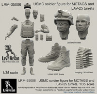 LiveResin LRM35006 1:35 USMC soldier figure for MCTAGS and LAV-25 turrets