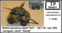 TP Model 72184 1/72 Mobile armored DOT w/ turret T-26, m.1938