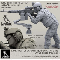 LiveResin LRM35007 1:35 USMC tanker figure for MCTAGS and LAV-25 turrets with CVC helmet