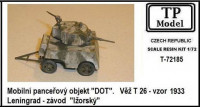 TP Model 72185 1/72 Mobile armored DOT w/ turret T-26, m.1933