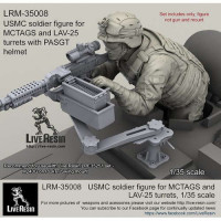 LiveResin LRM35008 1:35 USMC soldier figure for MCTAGS and LAV-25 turrets with PASGT helmet