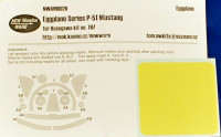 New Ware NWA-M0026 Egglplane Series - Mask P-51 Mustang (HAS - TH7)