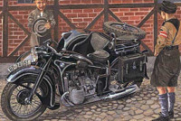 IBG 35001 BMW R12 with sidecar civilian versions 1:35