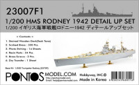 Pontos model 23007F1 HMS Rodney Detail up set 1/200