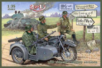 IBG 35002 BMW R12 with sidecar military versions 1:35
