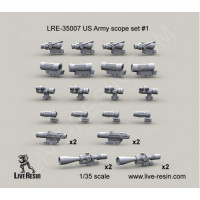LiveResin LRE35007 1:35 US Army scope set 1