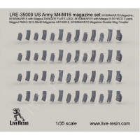 LiveResin LRE35009 1:35 M4/16 magazine set