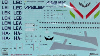HAD 144034 1/144 Decal Boeing 737/200 MALEV