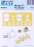 Special Hobby M72014 Mask for Mirage F.1 Two Seater (SP.HOBBY) 1/72