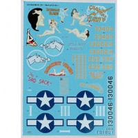 "Foxbot 48-039 North American B-25C/D Mitchell ""Pin-Up Nose Art and Stencils"" Part # 1 1/48"