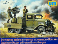 UM  511	Soviet truck GAZ-AAA with Maxim Quadruple