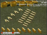 Voyager Model AP066 Photo Etched set for 1/35 Magazines & Ammo Boxes for Kwk 30/38 (For All)