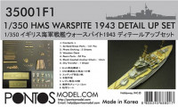 Pontos model 35001F1 HMS Warspite Detail up set 1/350