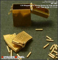 Voyager Model AP067 Photo Etched set for 1/35 Magazines & Ammo Boxes for Flak 30/38 (For All)