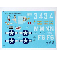 "Foxbot 72-006 Douglas A-20 Boston ""Pin-Up Nose Art and Stencils"" Part # 1 1/72"