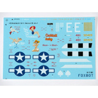 "Foxbot 72-007 Douglas A-20 Boston ""Pin-Up Nose Art and Stencils"" Part # 2 1/72"