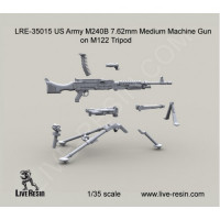 LiveResin LRE35015 1:35 M240B 7.62mm Medium Machine Gun on M122 Tripod