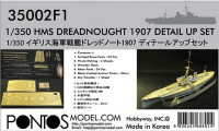 Pontos model 35002F1 HMS Dreadnought Detail up set 1/350