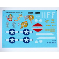 "Foxbot 72-008 Douglas A-20 Boston ""Pin-Up Nose Art and Stencils"" Part # 3 1/72"