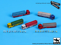 BlackDog S70008 Trucks & trailers with staff accessories set 1:700
