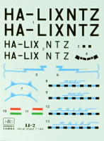 HAD 144044 1/144 Decal Li-2 MALEV (for EAST.EXPRESS kit)