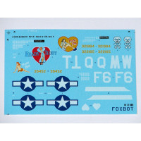 "Foxbot 72-009 Douglas A-20 Boston ""Pin-Up Nose Art and Stencils"" Part # 4 1/72"