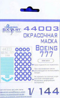 Sx Art 44003 1/144 Boeing 777 Painting mask (ZVE)